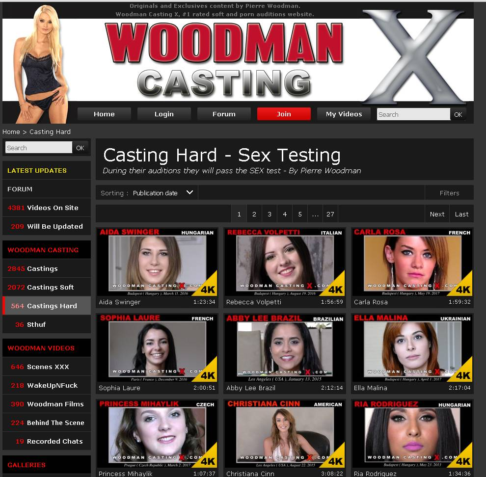 0day tested free passwords for woodmancastingx discovered by Erickson from Jacksonville