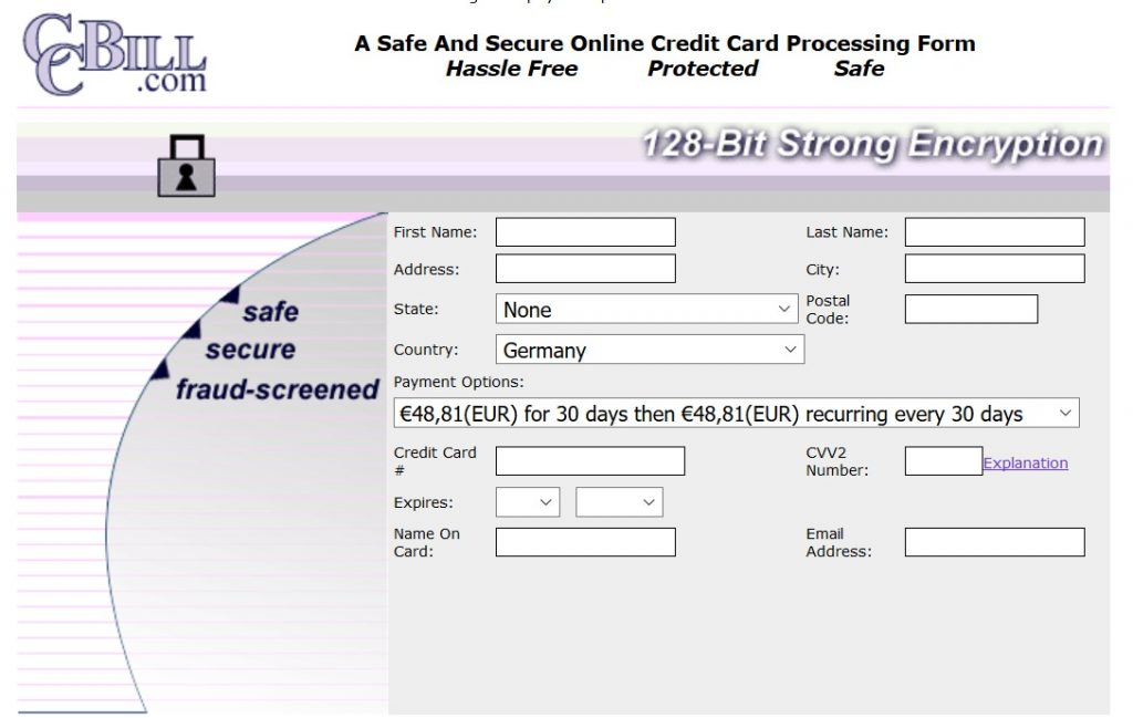 ccbill password entry